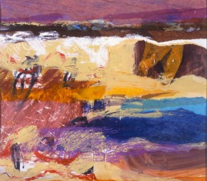 Coastal Landscape, mixed media