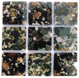 Lizard Beach Sediments, pebbles in resin