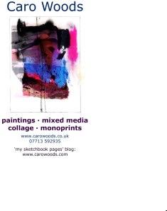 Business Card Caro artwork + blog 3 reversed