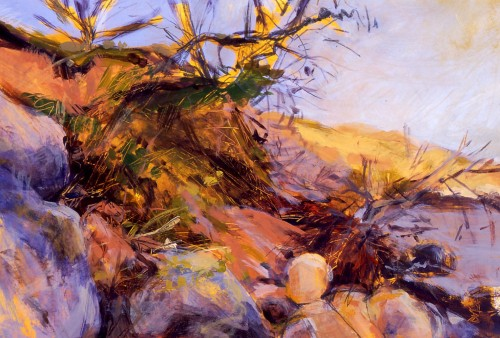 Landslip, c.1995. acrylic on board
