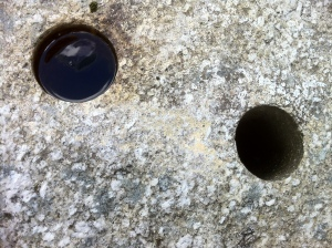 drill holes in granite
