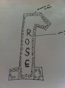Georgie's design for Rosie's cake