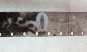 The similar bit of footage now 'exposed' onto new film and developed in the dark room in the normal way.