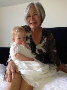 The same christening gown worn by Rebecca (who is holding Rose), Rebecca's children and my children, (including Rosie's mother).