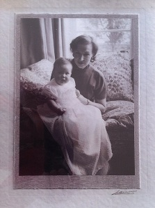 my mother-in-law, Jean, with my sister-in-law, Rebecca, as a baby