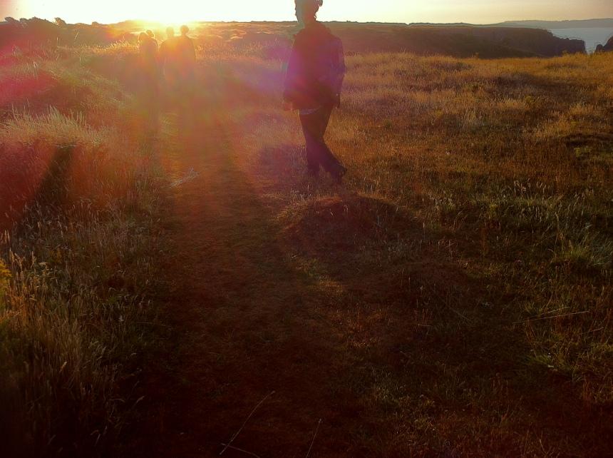 our dawn walk in silence - breathtaking.