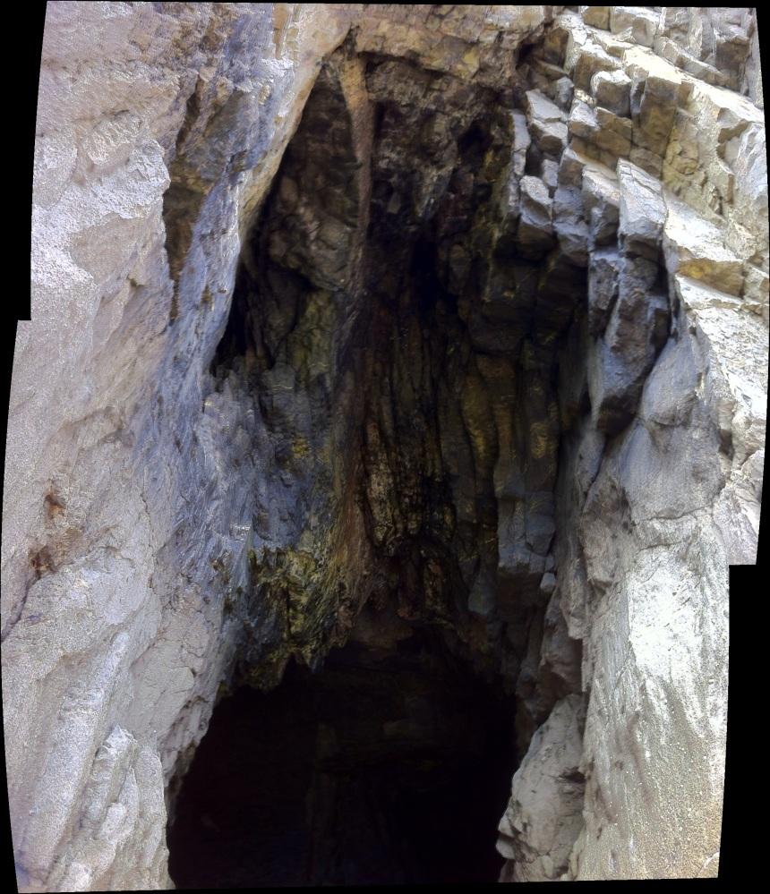 Welsh cave montage