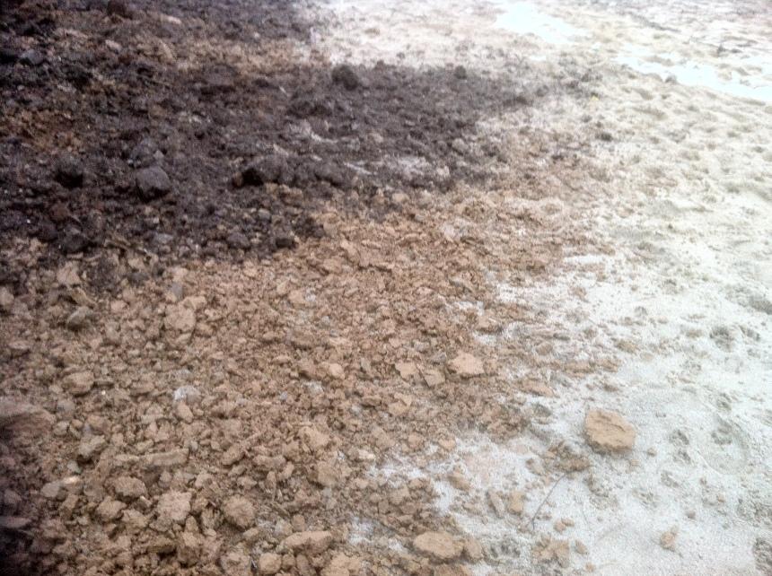 Soil, silt, sand