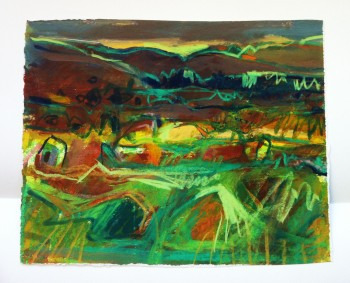 Roundhouse Village Remains, 2013, 23 cm x 18 cm, mixed media on paper