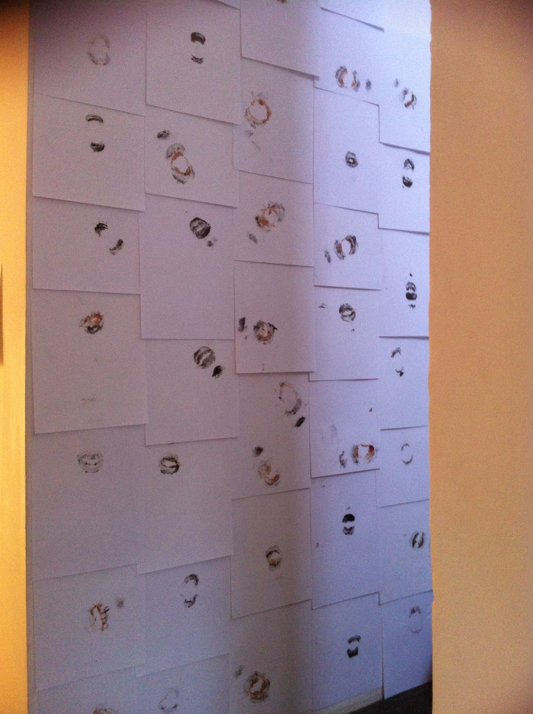 installation of 'kisses', Drawing the Line exhibition.