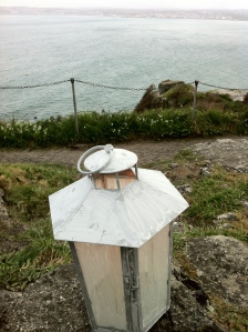 The lantern on the Michael line, looking out to sea at the spot where the fisherman in the Bay first saw the vision of St. Michael.
