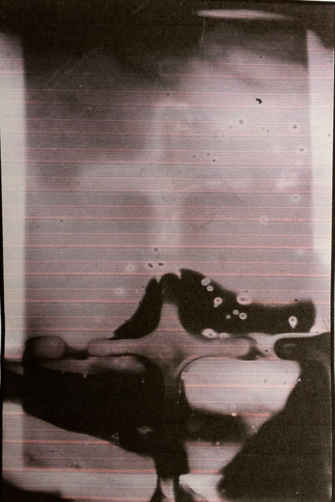 'Holding the Light', Photograph taken with a pinhole camera, by Angela Shaw.