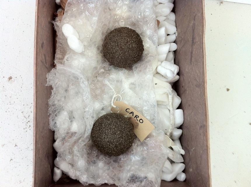 Making shiny mud balls on a Hikaru Dorodango workshop led by Emma  Saffy Wilson