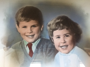 This is a photo of me and my brother (circa 1959), when we lived in Australia